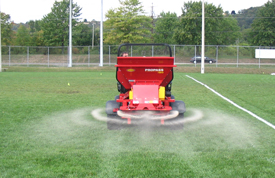 Top Dressing Machine In Action