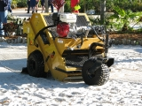 The Cherrington Sand Cleaner will remove contamination from playgrounds, volleyball courts, bunkers, small beaches