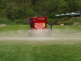 Tee Deck Topdressing Application