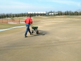 Early Green Topdressing Sand Application